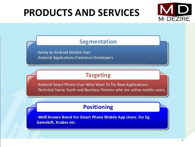 PRODUCTS AND SERVICES-Solely to Android Mobile User.-Android Applications Freelance Developers-Android Smart Phone User Wh...
