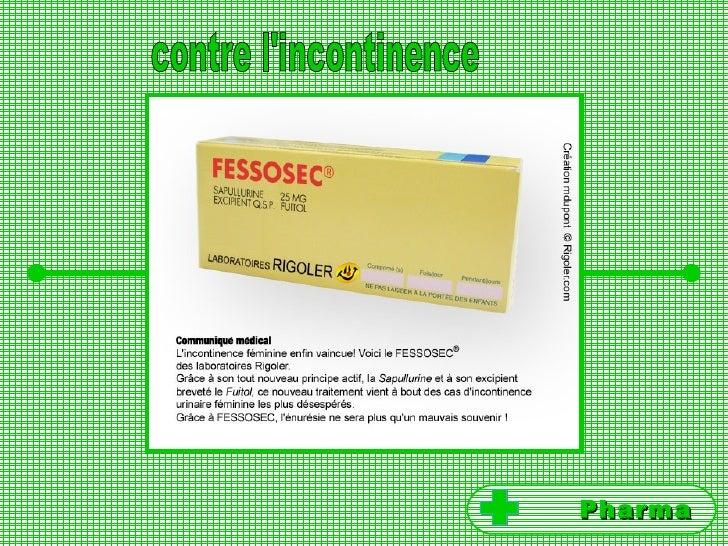 contre l'incontinence Pharma