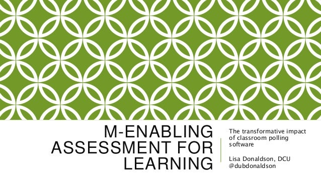 enabling and assessing learning essay In its many forms, feedback allows students to reflect on their learning clarifies   learner at the university level, which would focus specifically on an essay plan.