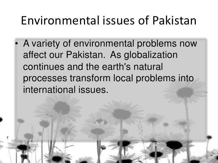 environmental issues in pakistan Corruption is the prime reason behind the economical unstableness corruption has spread into the world and has ruined the economy pakistan has been ranked at 42nd.