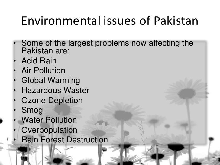 environmental issues of by by muhammad fahad ansari ieem environmental issues