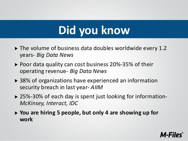 What You Don't Know about Document Management, But Should - M-Files Slide 3