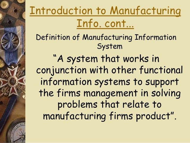 manufacturing information system definition