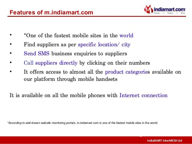 IndiaMART InterMESH Ltd © • *One of the fastest mobile sites in the world • Find suppliers as per specific location/ city ...