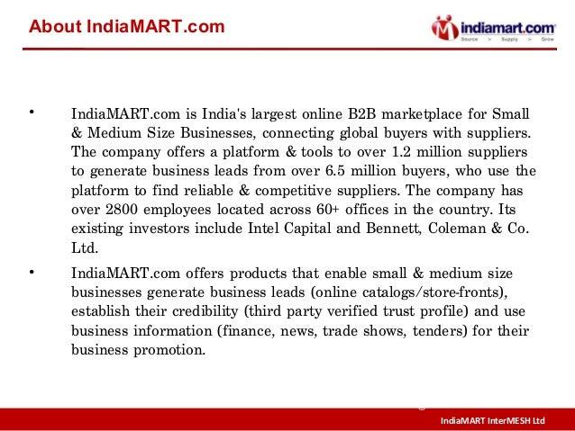 IndiaMART InterMESH Ltd © About IndiaMART.com • IndiaMART.comis India's largest online B2B marketplace for Small & Medium...