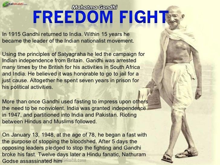 short biography of mahatma gandhi in english pdf
