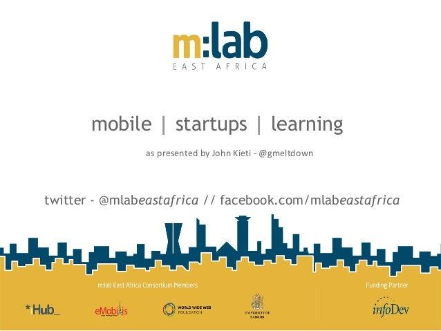 John Kieti - M:lab East Africa presentation