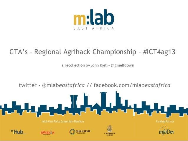John Kieti - M:Lab East Africa Experience on ICT4Ag Hackathon