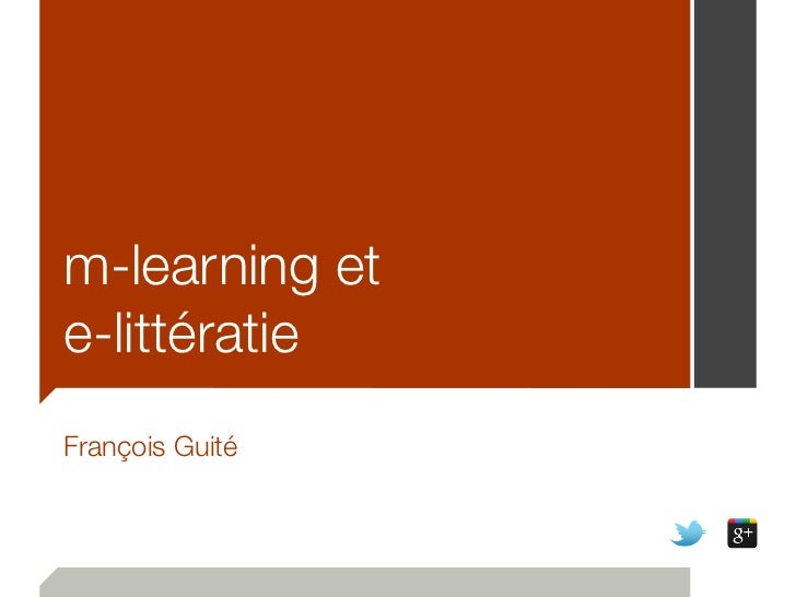 m-learning ete-littératieFrançois Guité