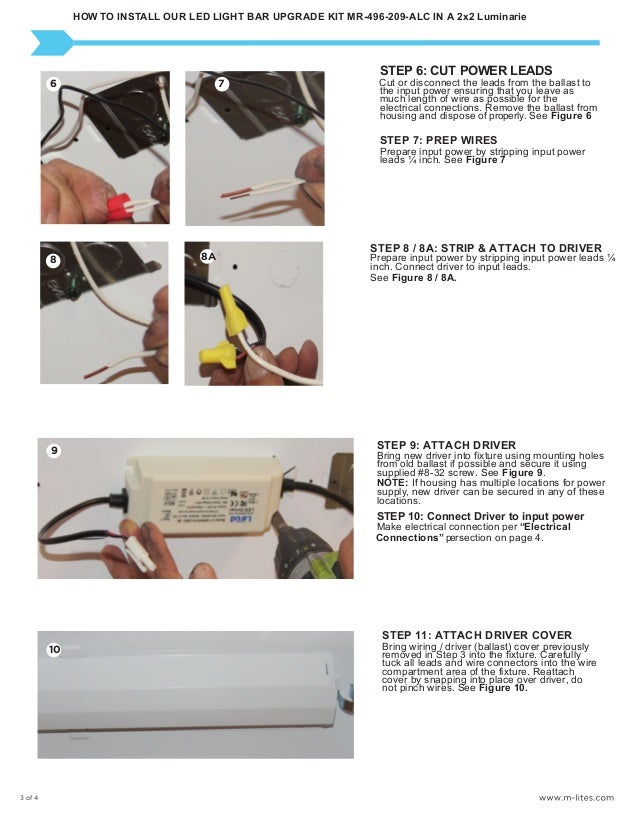 M-Lite Installation instructions for our 2x2 led light bar retrofit k…