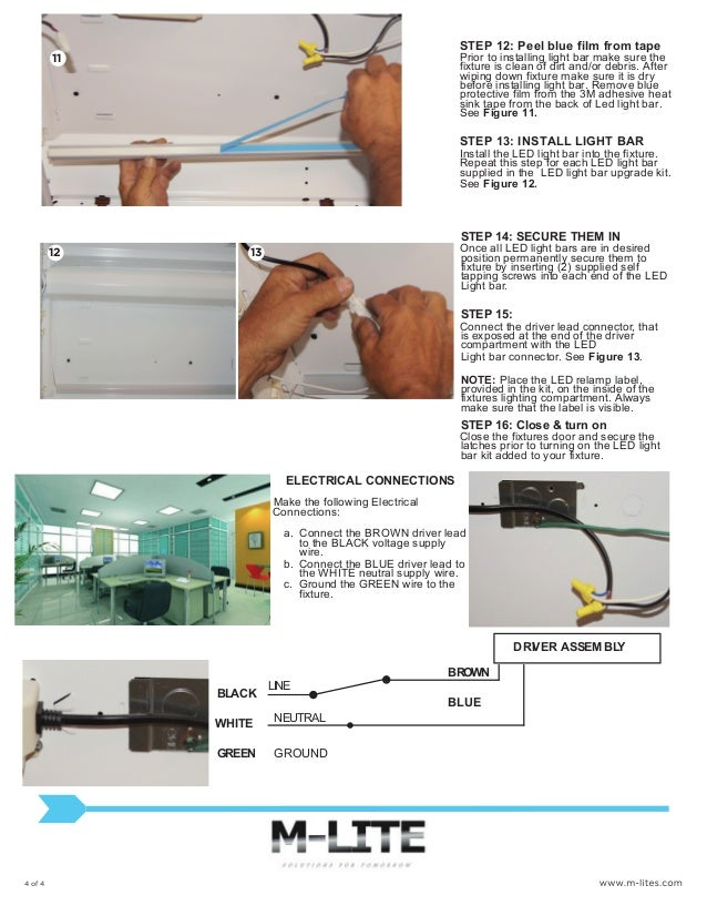 M-Lite Installation instructions for our 2x2 led light bar retrofit k…