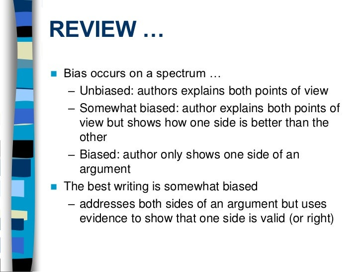 how bias is shown essay Explicit bias refers to the attitudes and beliefs we have about a person or group on a conscious level read more about explicit bias and related research.