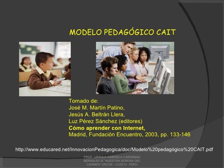Tomado de: José M. Martín Patino, Jesús A. Beltrán Llera, Luz Pérez Sánchez (editores) Cómo aprender con Internet, Madrid,...