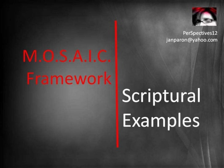 Framework for a M.O.S.A.I.C. Church: Biblical Examples (PerSpectives 12)