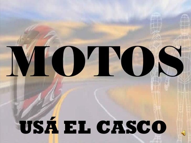 MOTOS USÁ EL CASCO