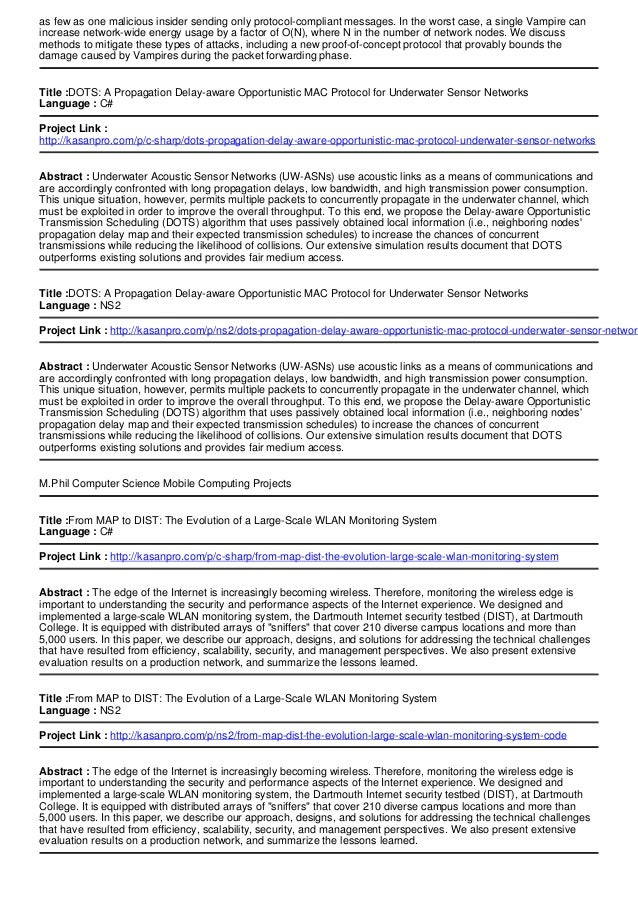 Mil Computer Science Mobile Computing Projects