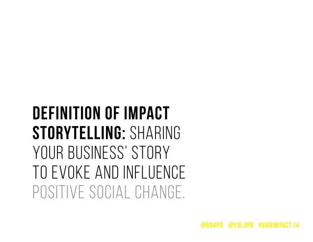 Impact Storytelling - PR for Social Enterprises Slide 3