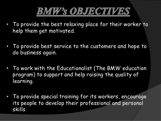 Managmen Process Of Bmw
