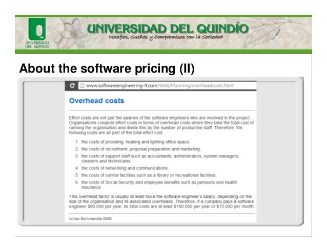 About the software pricing (II)