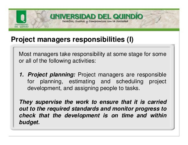 8 project managers responsibilities. Resume Example. Resume CV Cover Letter