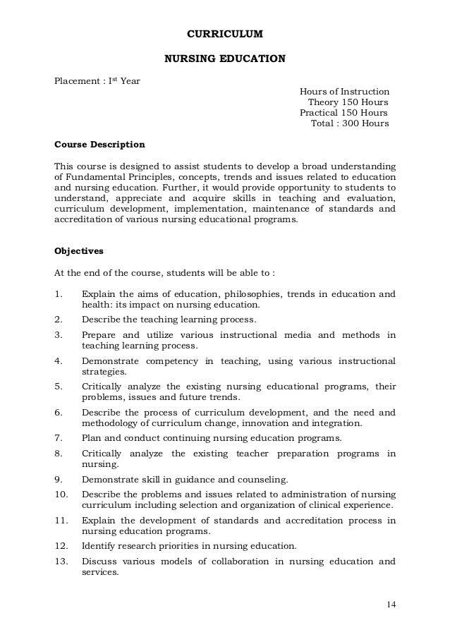 curriculum and instruction syllabus