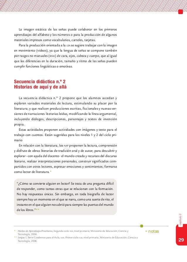 29capítulo2La imagen estática de las señas puede colaborar en los primerosaprendizajes del alfabeto y los números o para l...