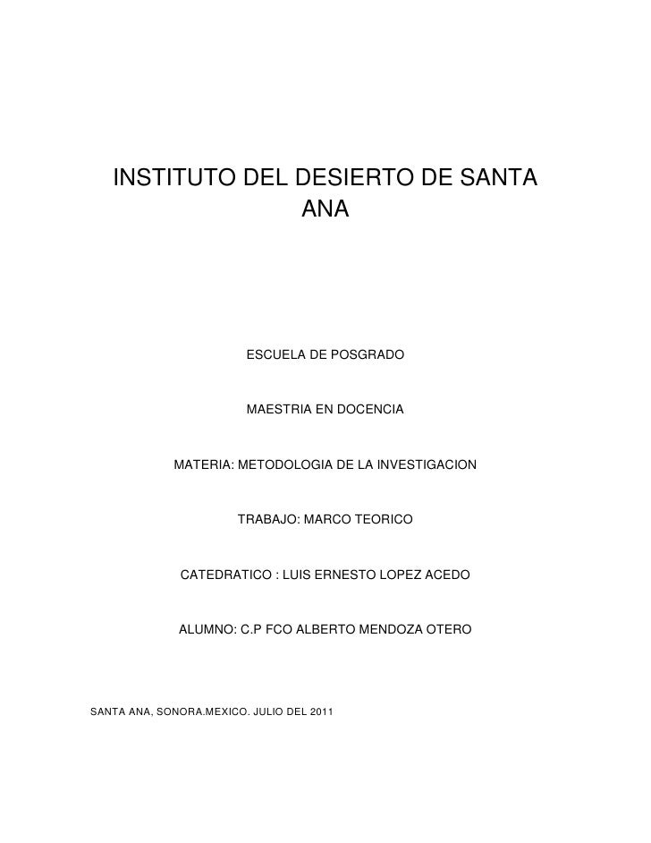INSTITUTO DEL DESIERTO DE SANTA                 ANA                         ESCUELA DE POSGRADO                         MA...