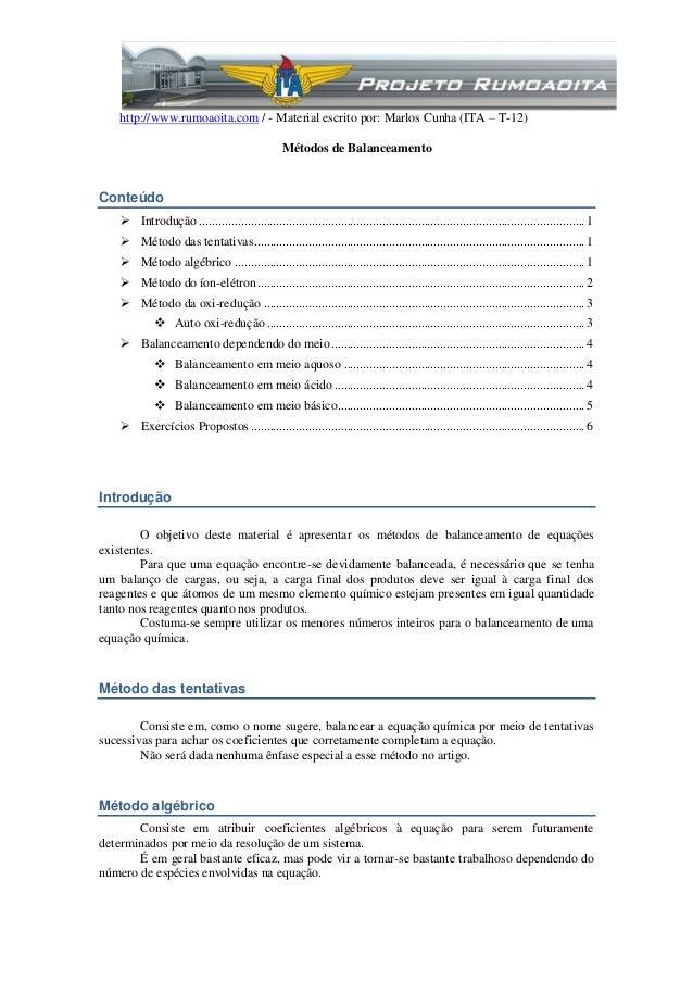 http://www.rumoaoita.com / - Material escrito por: Marlos Cunha (ITA – T-12)                                              ...