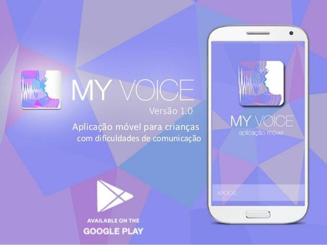 Aplicação móvel para crianças com dificuldades de comunicação Versão 1.0