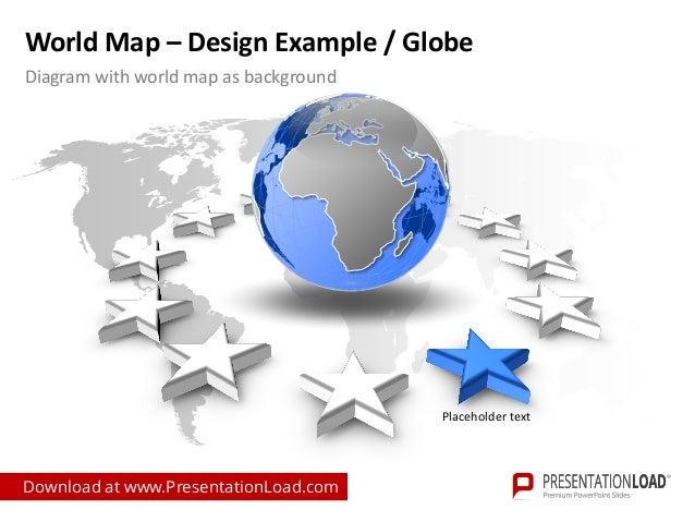 worldmap ppt slide template