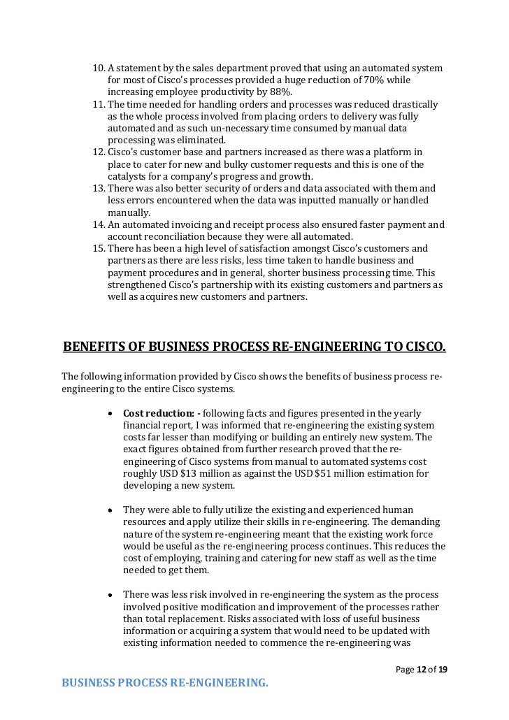 business process re engineering essay 12