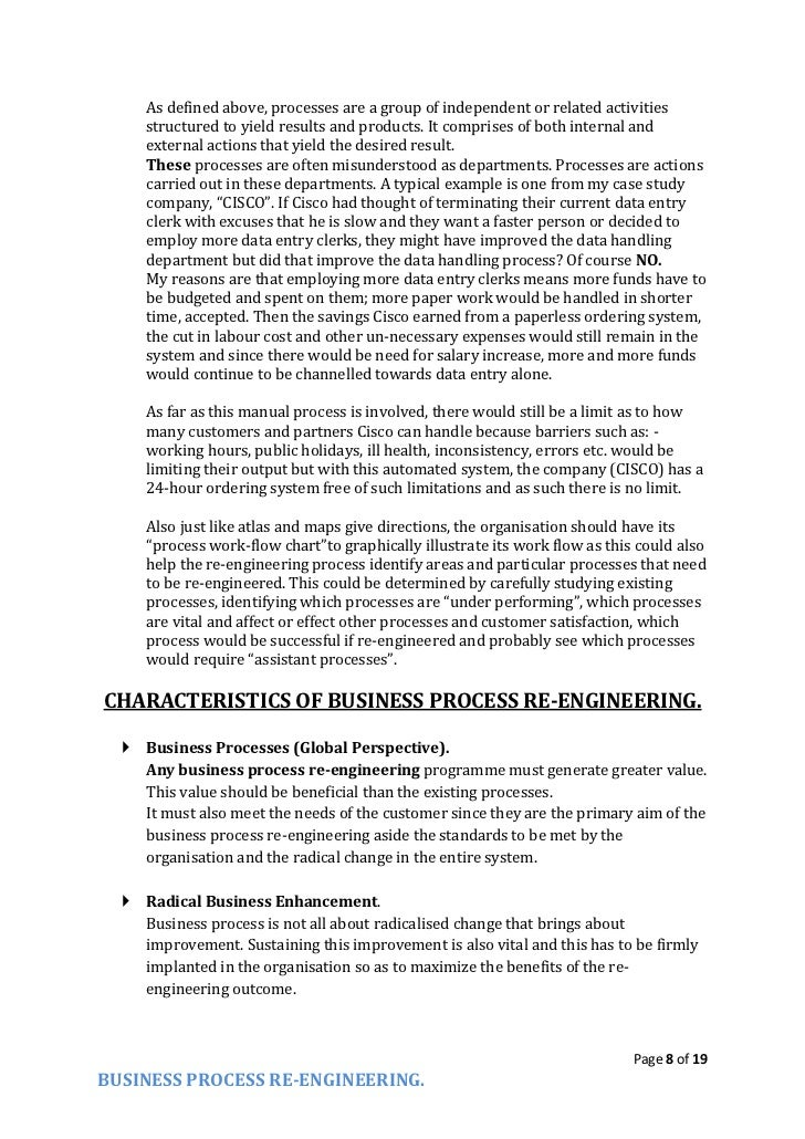 analyzing business process re engineering essay The role of performance measurement in business process re-engineering the role of performance measurement in business process re in analyzing the.