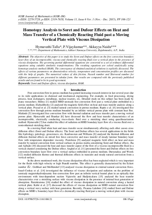 homotopy analysis to soret and dufour effects on heat and mass transfer of a chemically reacting fluid past a moving vertical plate with viscous dissipation 1 638 jpg