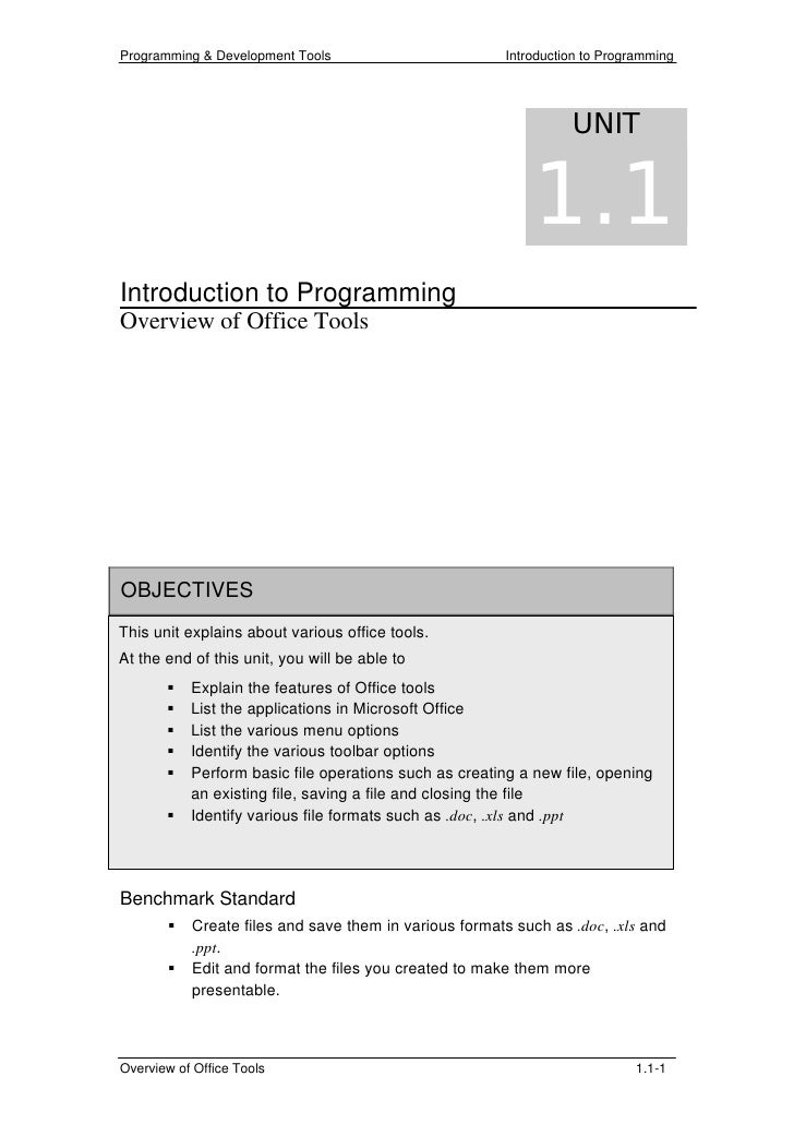 Programming & Development Tools                        Introduction to Programming                                        ...