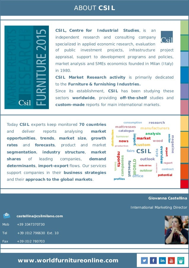 E Commerce For The Furniture Industry Market Research By Csil Toc