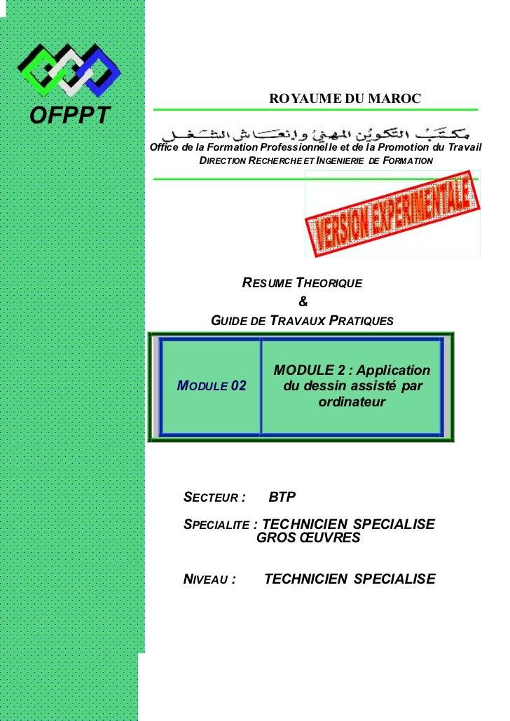 OFPPT                           ROYAUME DU MAROCOFPPT        Office de la Formation Professionnelle et de la Promotion du ...
