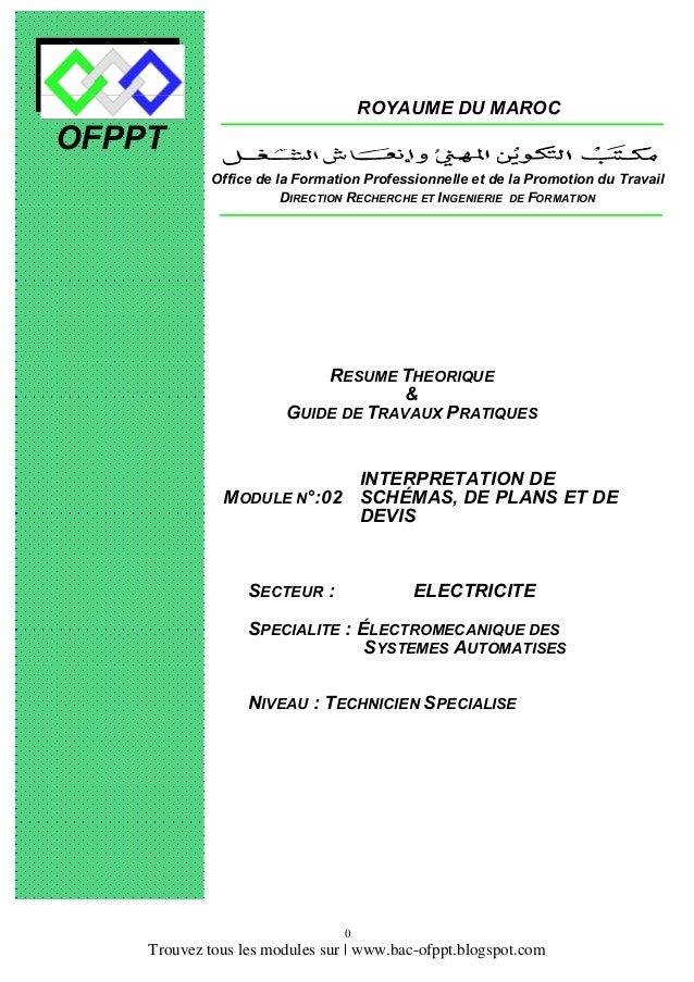 ROYAUME DU MAROC  OFPPT Office de la Formation Professionnelle et de la Promotion du Travail DIRECTION RECHERCHE ET INGENI...