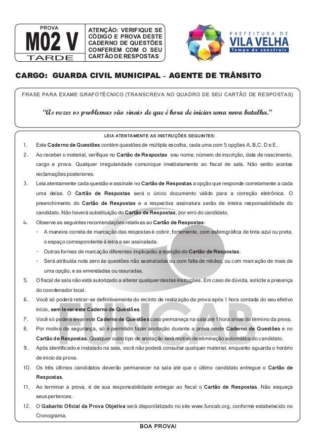 PROVA                  ATENÇÃO: VERIFIQUE SE M02 V  TARDE                               CÓDIGO E PROVA DESTE              ...