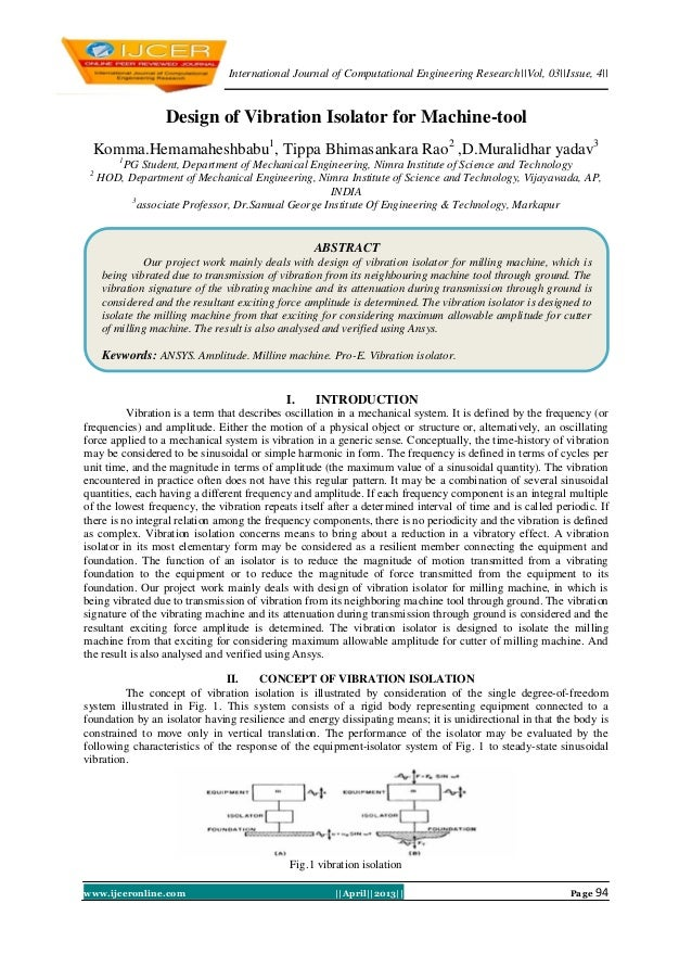 International Journal of Computational Engineering Research  Vol, 03  Issue, 4  www.ijceronline.com   April  2013   Page 9...