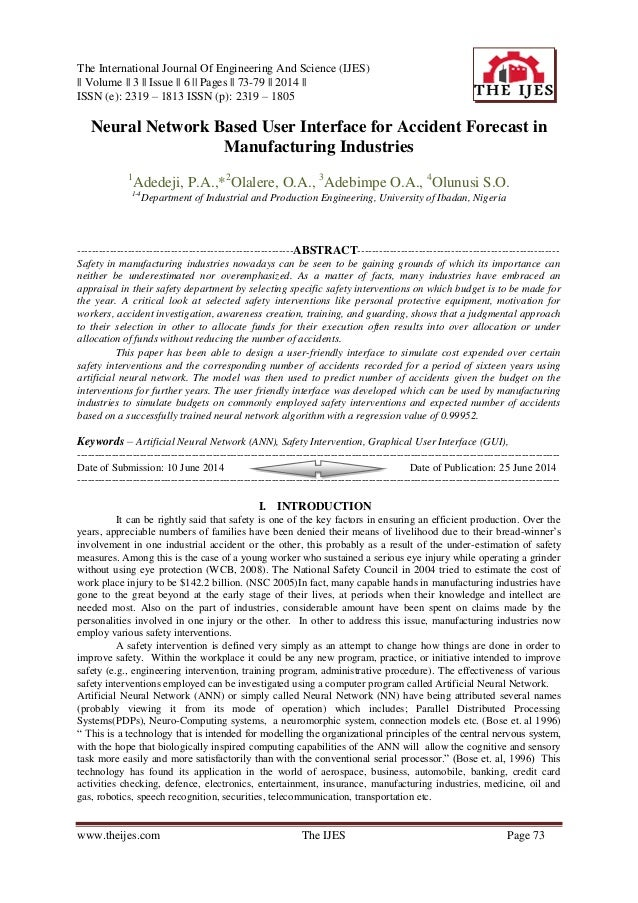 The International Journal Of Engineering And Science (IJES) || Volume || 3 || Issue || 6 || Pages || 73-79 || 2014 || ISSN...
