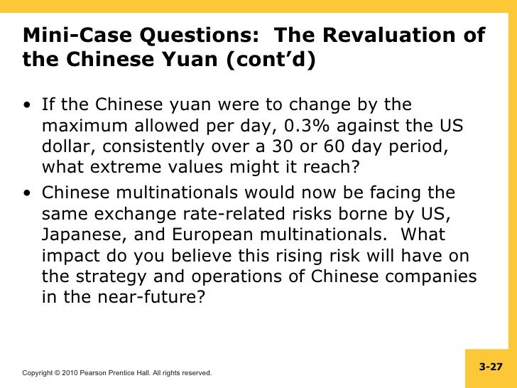 Yuan revaluatin impact of the textile