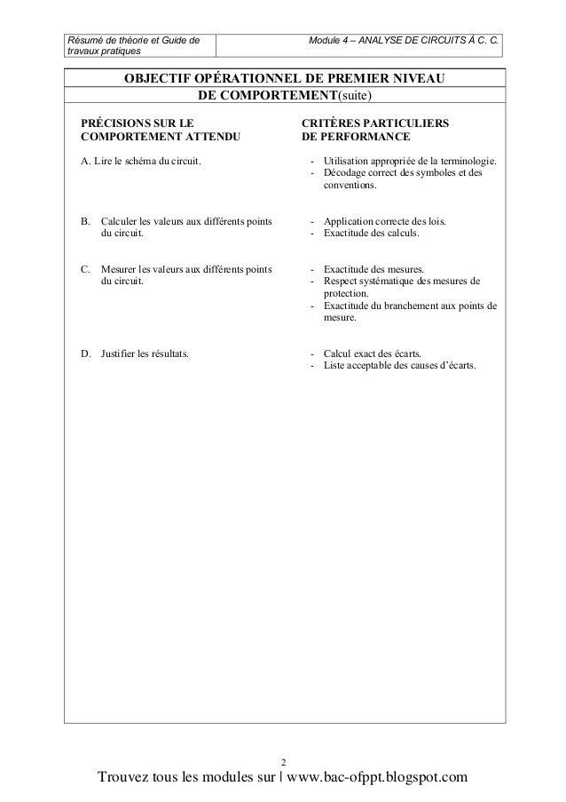 M04 Analyse De Circuits 224 C C Ge Esa