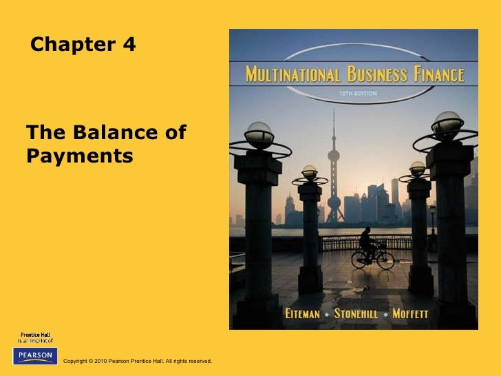 Chapter 4 The Balance of Payments