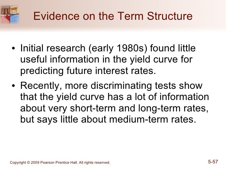 A normal term structure of interest rates would depict