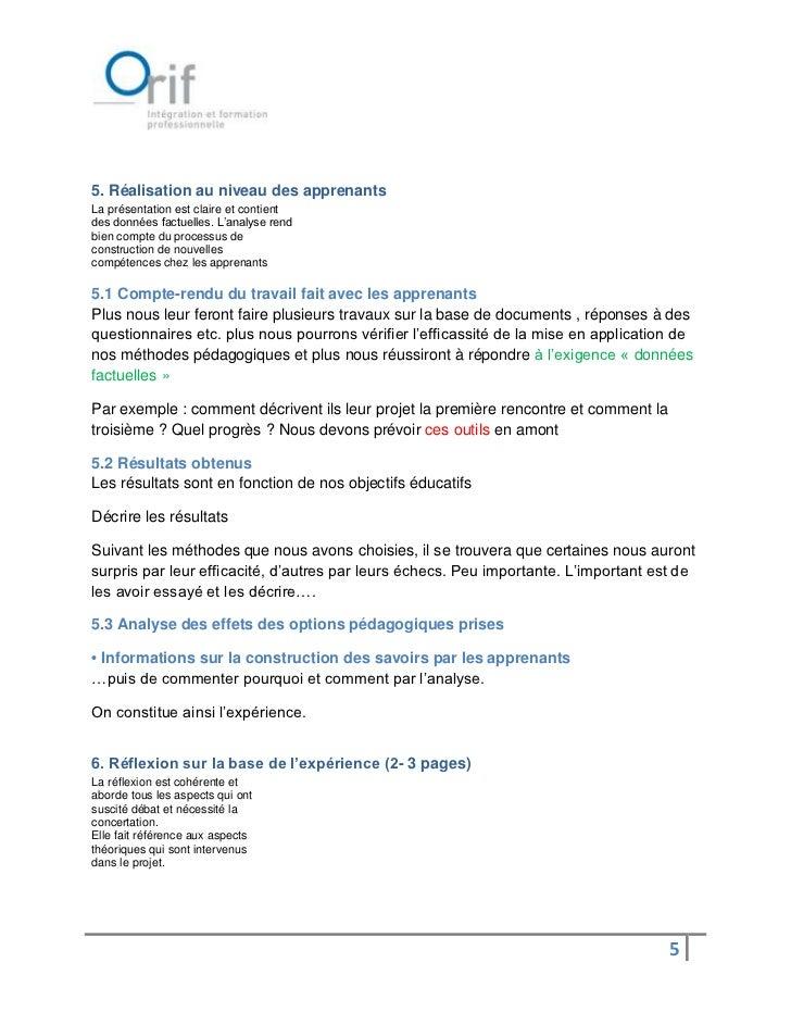 5. Réalisation au niveau des apprenantsLa présentation est claire et contientdes données factuelles. L'analyse rendbien co...