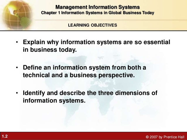 why are information systems essential in business today