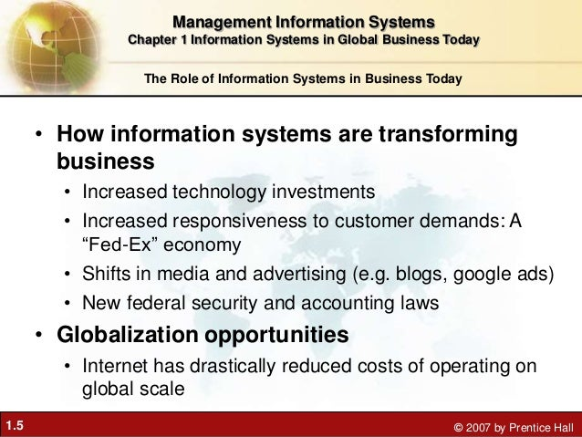 how information systems are transforming business examples