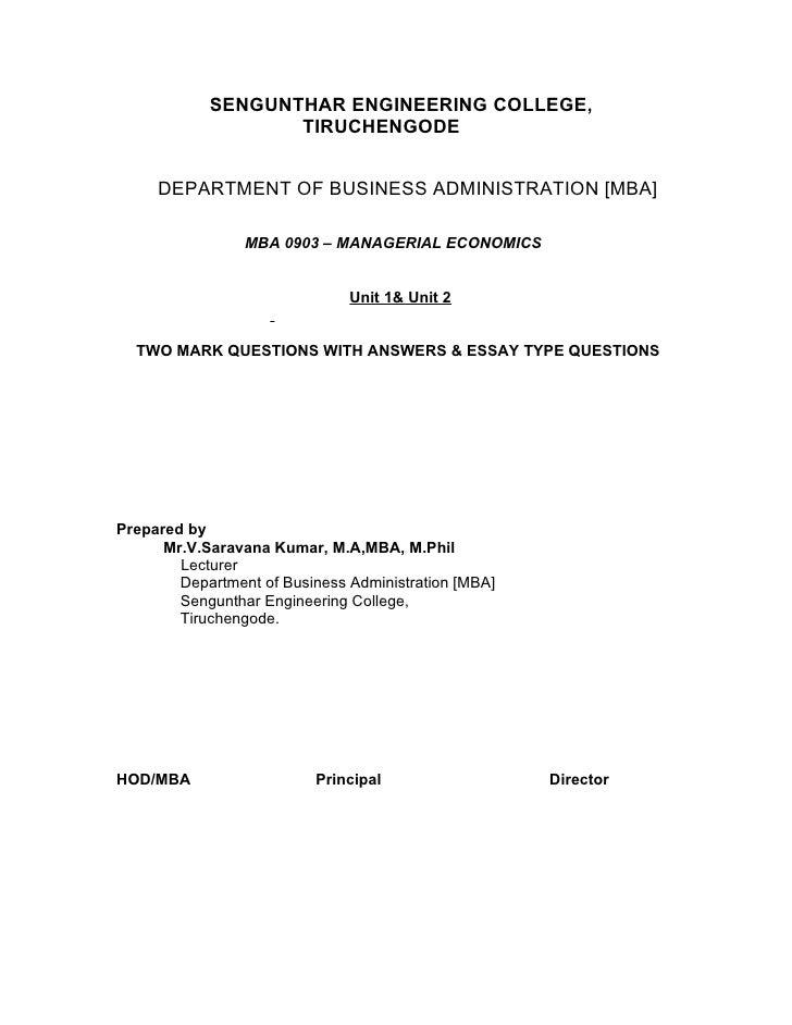 SENGUNTHAR ENGINEERING COLLEGE,                    TIRUCHENGODE        DEPARTMENT OF BUSINESS ADMINISTRATION [MBA]        ...