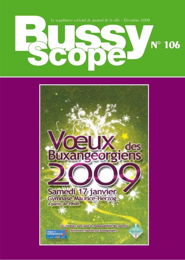 Bussy Le supplément culturel du journal de la ville - Décembre 2008                                                       ...