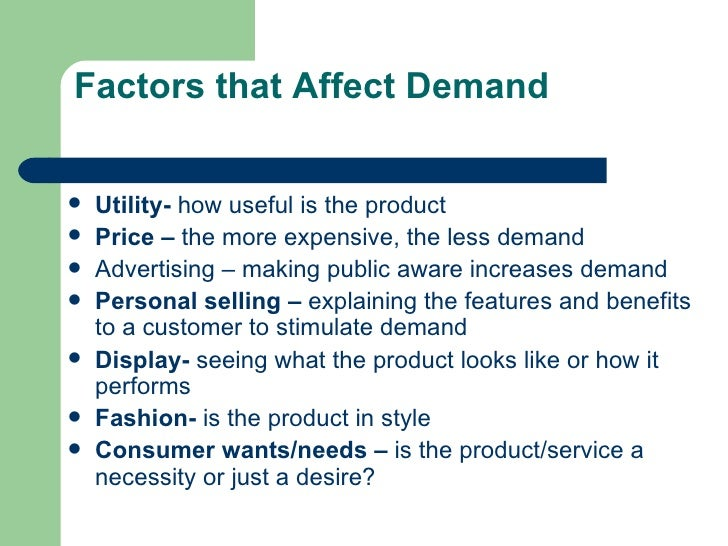 factors affecting demand of fmcg The real impact of high transportation costs by dawn russell, john j coyle,  the demand-supply imbalance of freight transport services, is a repercussion of trade growth that has outpaced the availability of transport services to such an extent that it has led to serious issues of congestion and capacity constraint in the united states.
